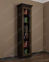 Шкаф книжный 1-створчатый с витражом ШККН (I) №1 в цвете «венге»