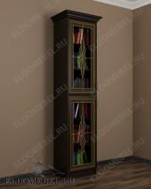 Шкаф книжный с витражными стеклами ШККН (I) №2 в цвете «венге»