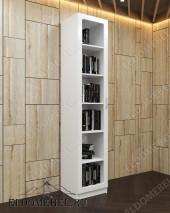 Шкаф книжный белый ШККН (I) №1 в цвете «белый глянец»
