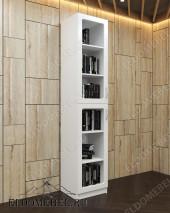 Шкаф книжный двухярусный ШККН (I) №2 в цвете «белый глянец»