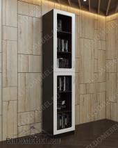 Книжный шкаф (глянец) ШККН (I) №2 в цвете «венге / ясень серебро»