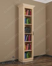 Шкаф книжный одностворчатый ШККН (I) №1 в цвете «молочный дуб»
