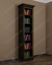 Шкаф книжный одностворчатый узкий ШККН (I) №1 в цвете «венге»
