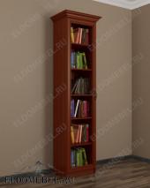 Книжный шкаф-пенал одностворчатый ШККН (I) №1 в цвете «итальянский орех»