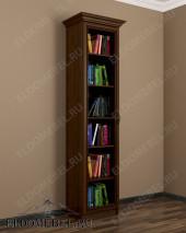 Шкаф книжный 1-створчатый ШККН (I) №1 в цвете «донской орех»