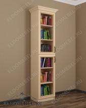 Шкаф книжный узкий ШККН (I) №2 в цвете «молочный дуб»