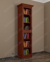 Шкаф книжный 1-створчатый ШККН (I) №2 в цвете «итальянский орех»