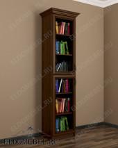 1-створчатый шкаф книжный ШККН (I) №2 в цвете «донской орех»