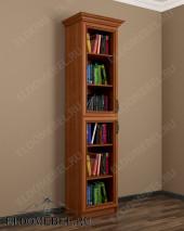 Одностворчатый шкаф книжный ШККН (I) №2 в цвете «ольха»