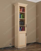 Шкаф книжный ШККН (I) №3 в цвете «молочный дуб»